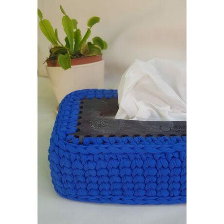 3 db-os papírzsebkendő tartó dobozhoz horgolható tető!  - Wood Stitch Collection