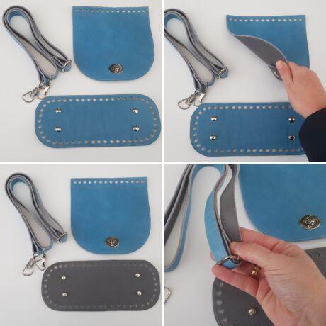 DUAL táska készítő szett szürke-fényes kék