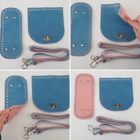 DUAL táska készítő szett rózsaszín-fényes kék