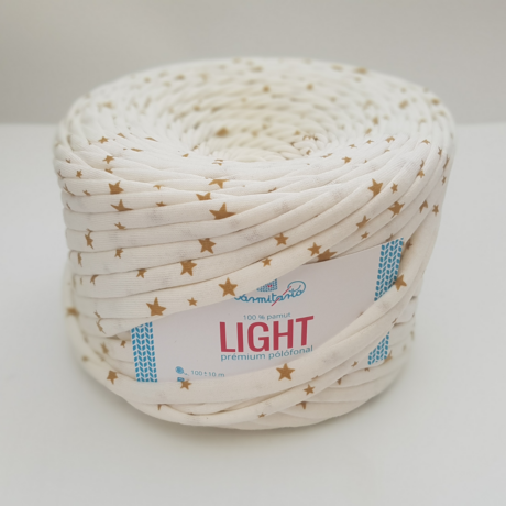 Bármitartó LIGHT prémium pólófonal - Csillagos krém