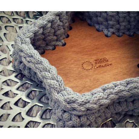 Csillag alakú 20 cm-es horgolható falap - Wood Stitch Collection