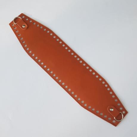 Bőr horgolható táskatest - Őzbarna