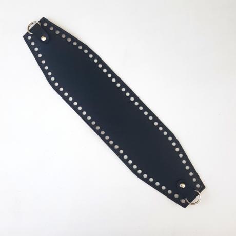 Bőr horgolható táskatest - Fekete